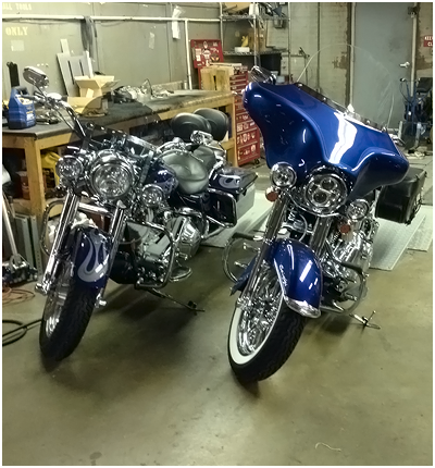 Motorcycles in the Garage